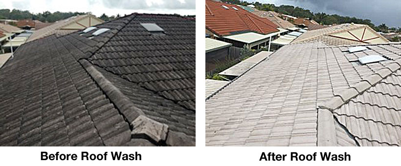 Roof washing Maroochydore Sunshine Coast