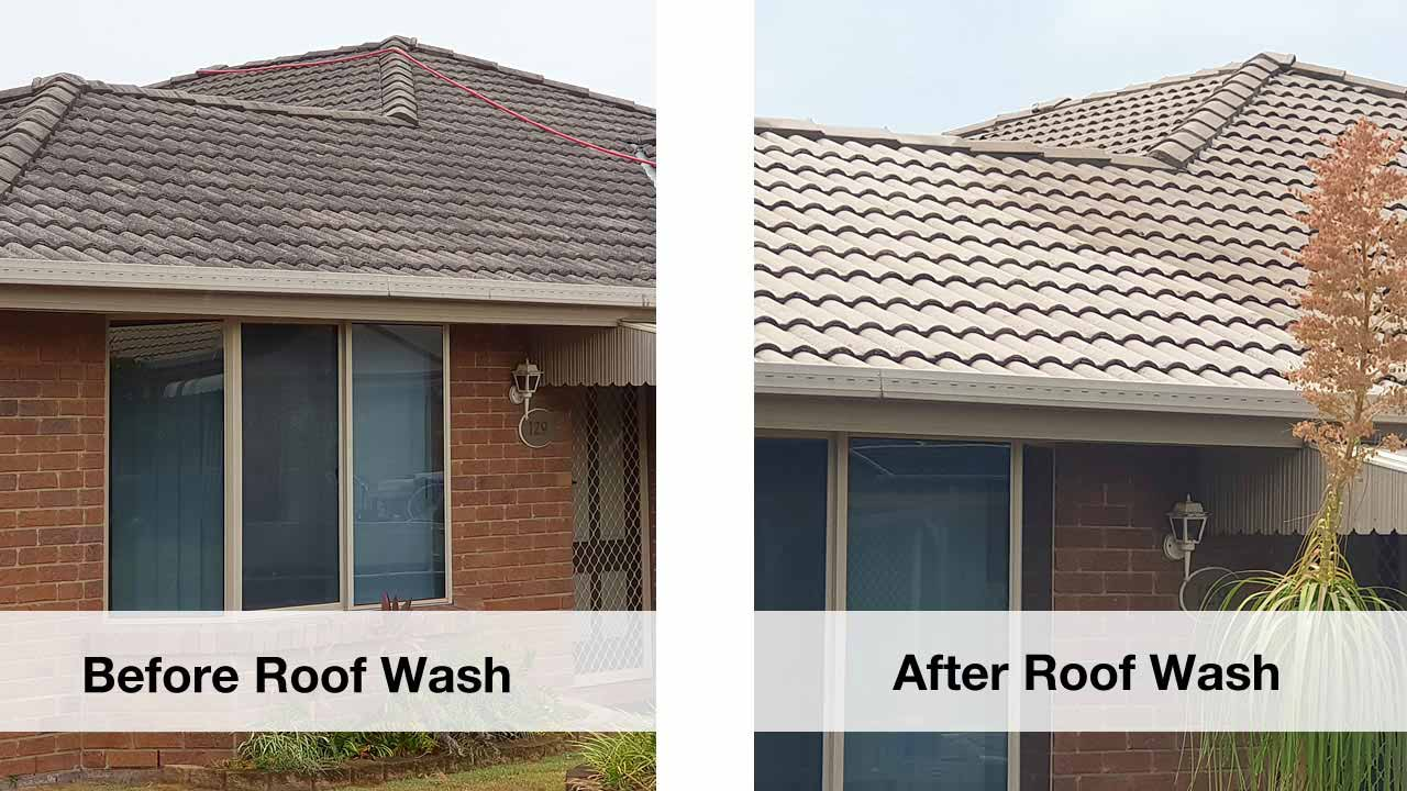 home roof wash cleaning