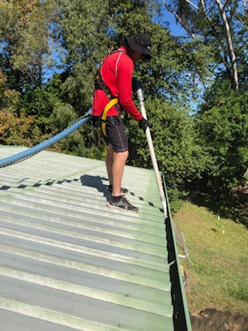 Safety measures are required when working on a building roof